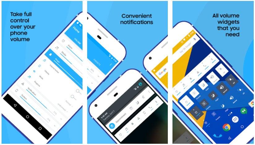 volume control widgets android