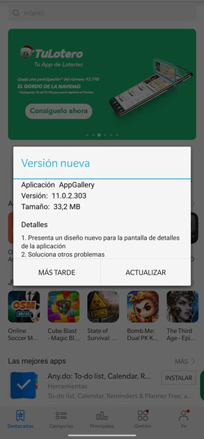 actualizar appgallery
