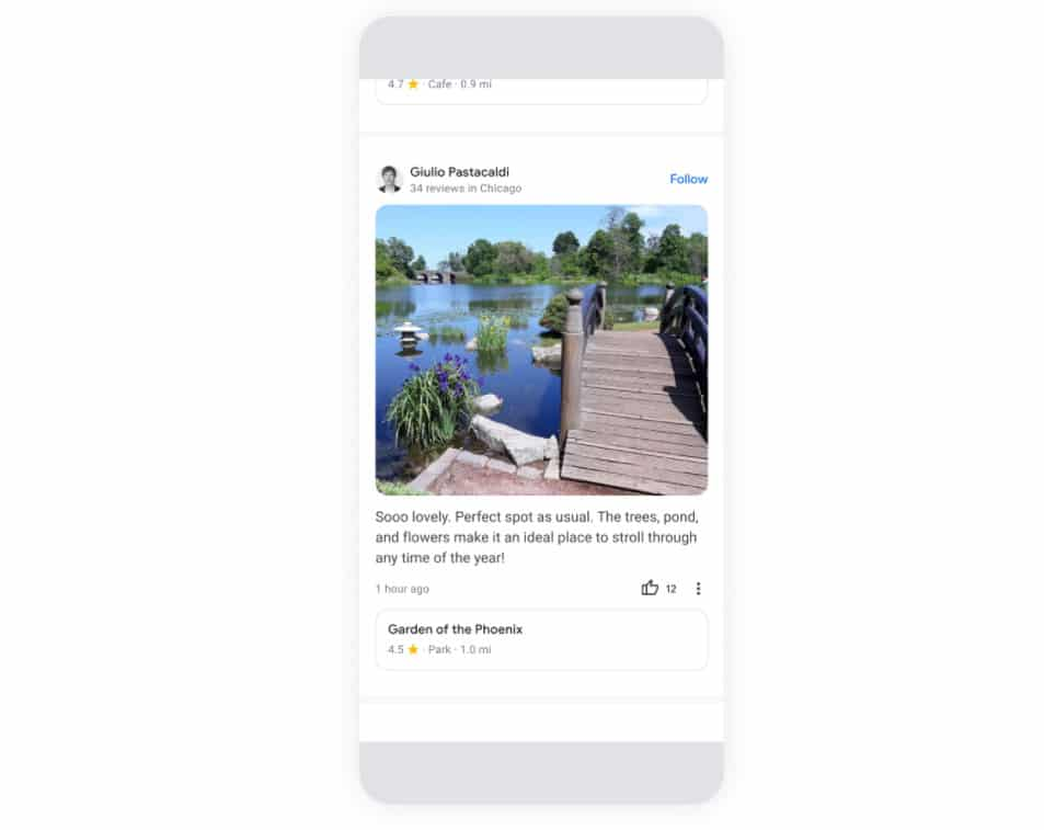 feed google maps actualización