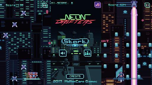 neon drifters juegos cyberpunk