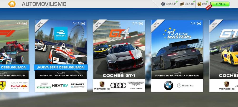 real racing 3 competiciones