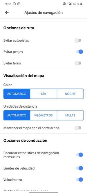 ajustes calibrar brújula google maps