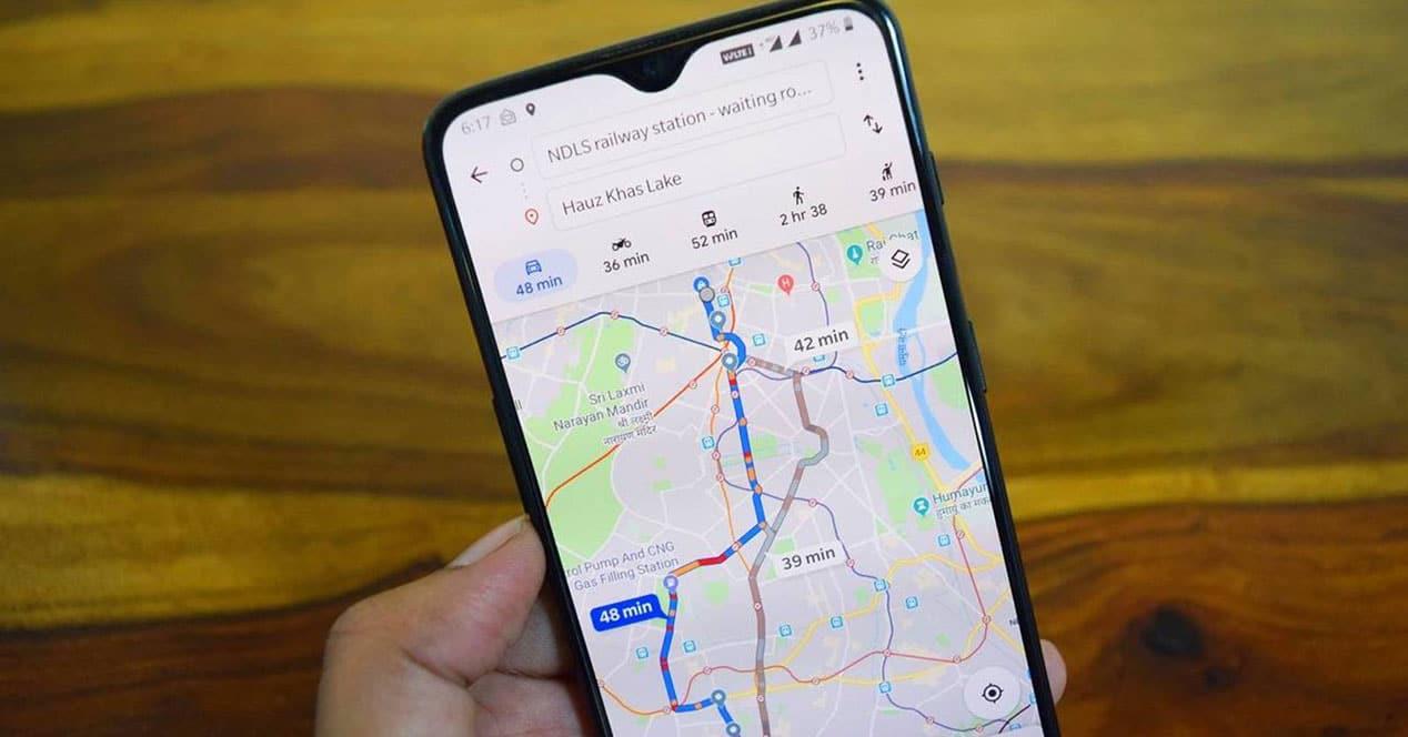 calibrar brújula google maps