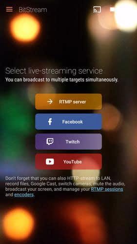 bitstream livestream apps streaming