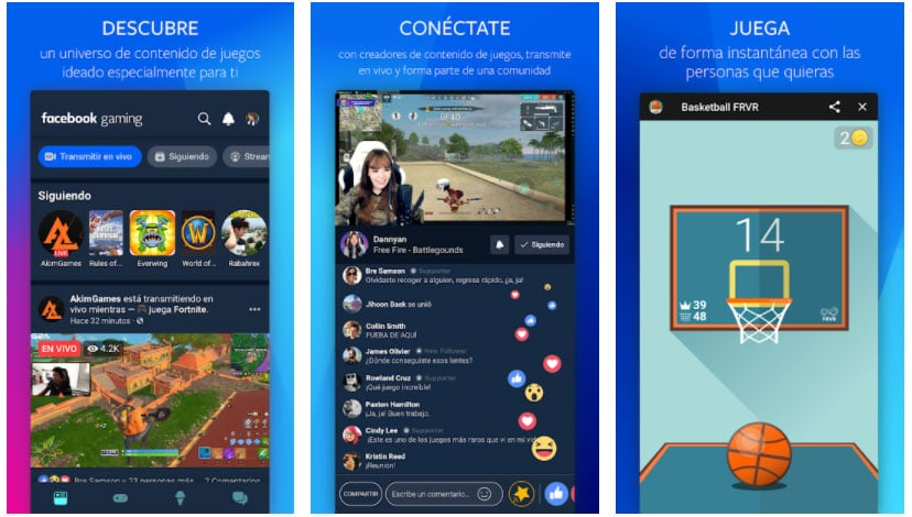 facebook gaming apps streaming