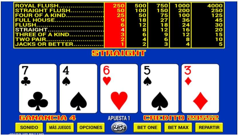 video póker casino