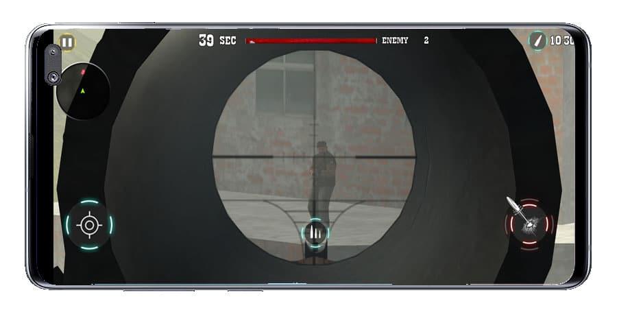 Apuntar en Sniper Shot Gun