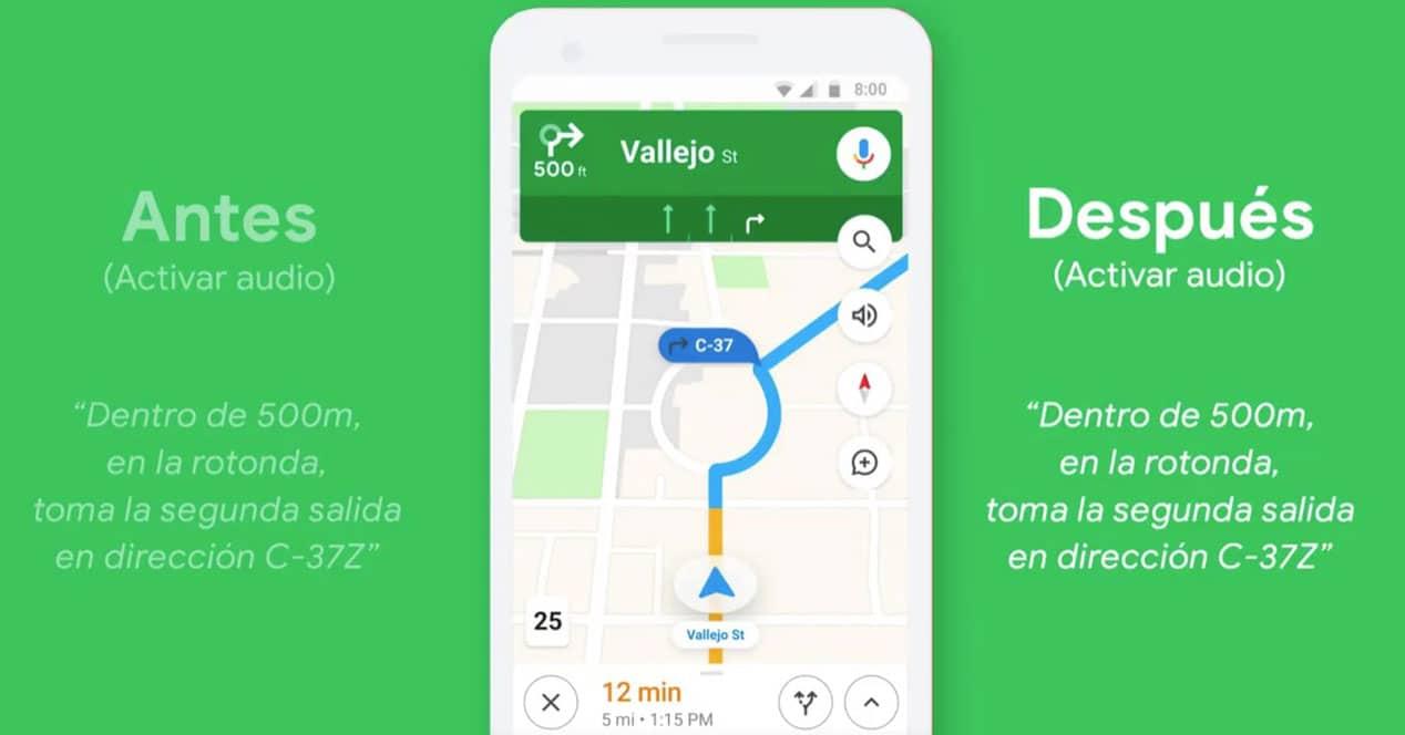 cambiar voz idioma google maps