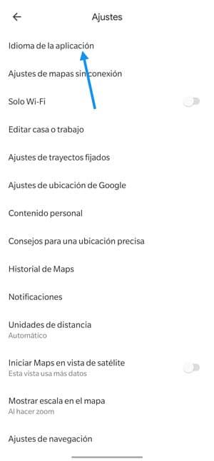 google maps cambiar idioma