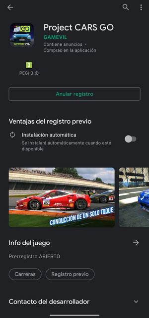 descargar project cars go registro previo
