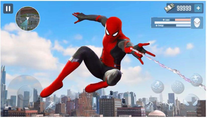spider rope hero