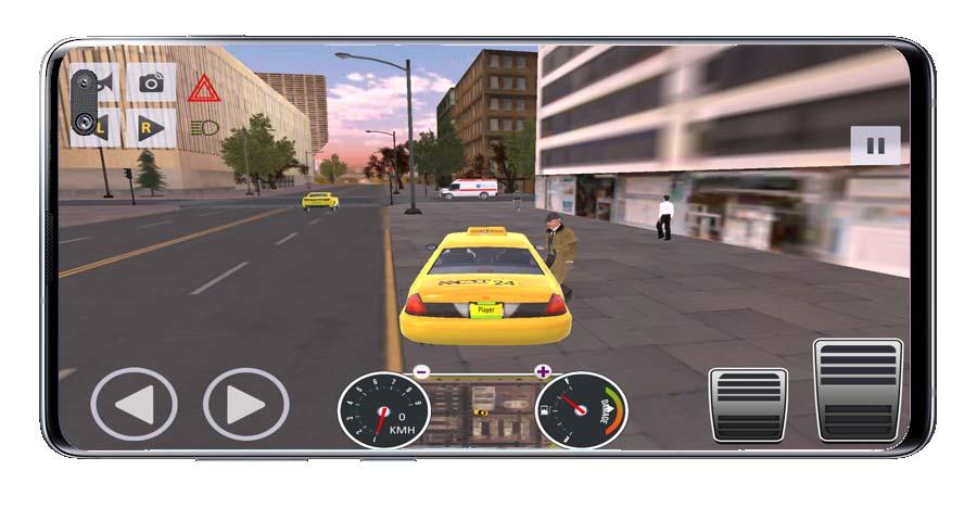 Cliente en juego Android de Taxis