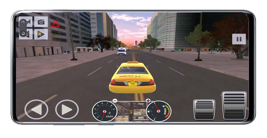 Interfaz del juego Taxi Driver Sim