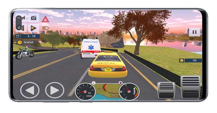Conduciendo en Taxi Driver Sim