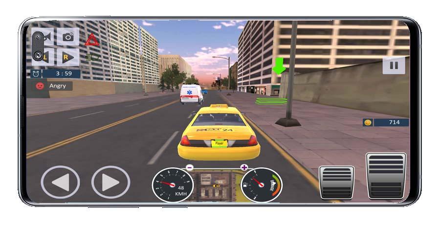 Destino en el juego Taxi Driver Sim