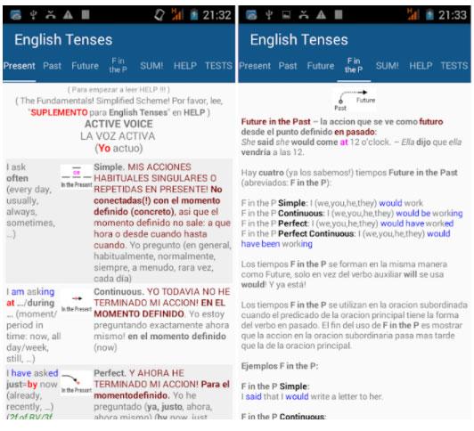 los tiempos en inglés